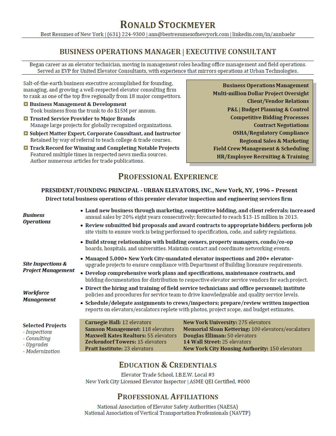 Resume - Business Operations